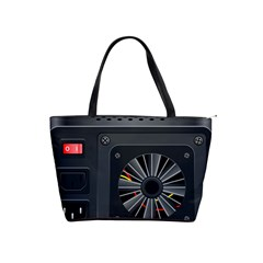 Special Black Power Supply Computer Shoulder Handbags