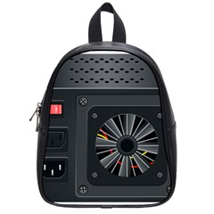 Special Black Power Supply Computer School Bags (small)  by BangZart