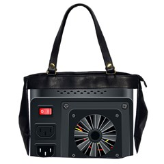 Special Black Power Supply Computer Office Handbags (2 Sides)  by BangZart