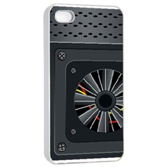 Special Black Power Supply Computer Apple Iphone 4/4s Seamless Case (white)