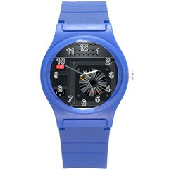 Special Black Power Supply Computer Round Plastic Sport Watch (s) by BangZart
