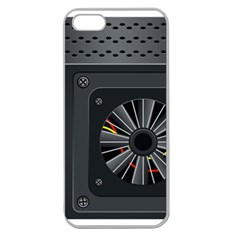 Special Black Power Supply Computer Apple Seamless Iphone 5 Case (clear)