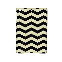 Chevron3 Black Marble & Beige Linen Ipad Mini 2 Hardshell Cases by trendistuff