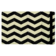 Chevron3 Black Marble & Beige Linen Apple Ipad Pro 9 7   Flip Case by trendistuff