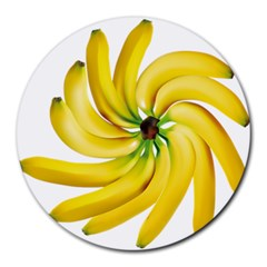 Bananas Decoration Round Mousepads by BangZart