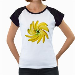 Bananas Decoration Women s Cap Sleeve T