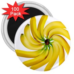 Bananas Decoration 3  Magnets (100 Pack) by BangZart