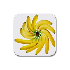 Bananas Decoration Rubber Square Coaster (4 Pack)  by BangZart