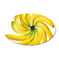 Bananas Decoration Oval Magnet by BangZart