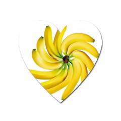 Bananas Decoration Heart Magnet by BangZart