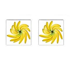Bananas Decoration Cufflinks (square)