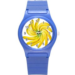 Bananas Decoration Round Plastic Sport Watch (s) by BangZart