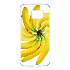 Bananas Decoration Samsung Galaxy S7 Edge White Seamless Case by BangZart