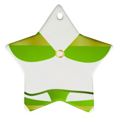 Green Swimsuit Ornament (star)