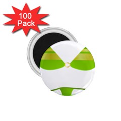 Green Swimsuit 1 75  Magnets (100 Pack)