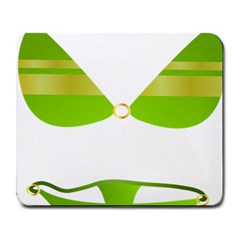 Green Swimsuit Large Mousepads by BangZart