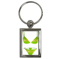 Green Swimsuit Key Chains (rectangle)
