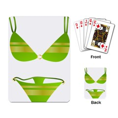 Green Swimsuit Playing Card by BangZart