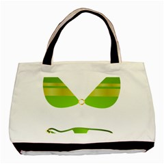 Green Swimsuit Basic Tote Bag by BangZart