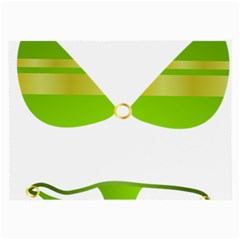 Green Swimsuit Large Glasses Cloth (2 Side) by BangZart