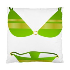 Green Swimsuit Standard Cushion Case (one Side) by BangZart