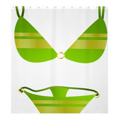 Green Swimsuit Shower Curtain 66  X 72  (large)  by BangZart