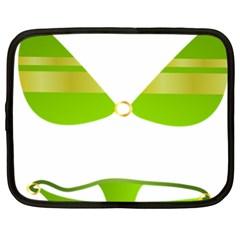 Green Swimsuit Netbook Case (xxl)  by BangZart