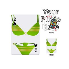 Green Swimsuit Playing Cards 54 (mini)