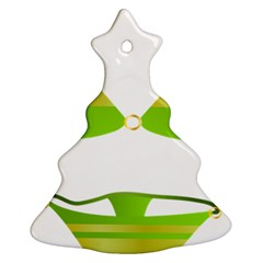 Green Swimsuit Christmas Tree Ornament (two Sides) by BangZart