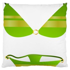 Green Swimsuit Large Cushion Case (two Sides) by BangZart
