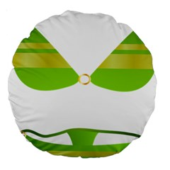 Green Swimsuit Large 18  Premium Round Cushions by BangZart