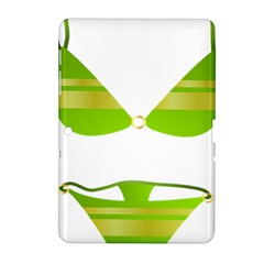 Green Swimsuit Samsung Galaxy Tab 2 (10 1 ) P5100 Hardshell Case  by BangZart