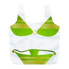 Green Swimsuit Full Print Recycle Bags (l)  by BangZart