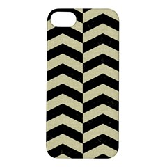 Chevron2 Black Marble & Beige Linen Apple Iphone 5s/ Se Hardshell Case by trendistuff