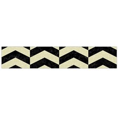 Chevron2 Black Marble & Beige Linen Flano Scarf (large) by trendistuff