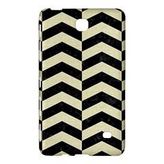 Chevron2 Black Marble & Beige Linen Samsung Galaxy Tab 4 (8 ) Hardshell Case  by trendistuff