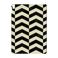 Chevron2 Black Marble & Beige Linen Apple Ipad Pro 10 5   Hardshell Case by trendistuff