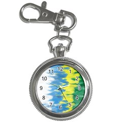 Brazil Colors Pattern Key Chain Watches by paulaoliveiradesign