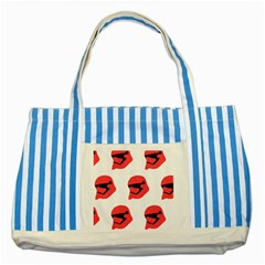 Stormtroper Pattern  Striped Blue Tote Bag by paulaoliveiradesign