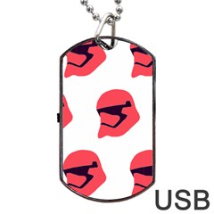 Stormtroper Pattern  Dog Tag Usb Flash (two Sides) by paulaoliveiradesign