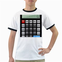 Calculator Ringer T Shirts by BangZart