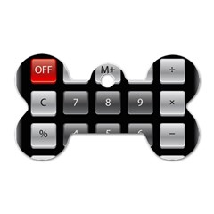 Calculator Dog Tag Bone (one Side)