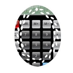 Calculator Oval Filigree Ornament (two Sides) by BangZart