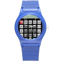 Calculator Round Plastic Sport Watch (s) by BangZart