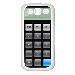 Calculator Samsung Galaxy S3 Back Case (white) by BangZart