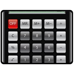 Calculator Double Sided Fleece Blanket (large)  by BangZart