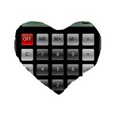 Calculator Standard 16  Premium Flano Heart Shape Cushions by BangZart