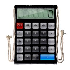 Calculator Drawstring Bag (large)