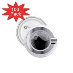 White Washing Machine 1 75  Buttons (100 Pack)