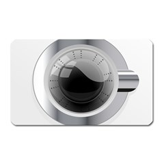 White Washing Machine Magnet (rectangular) by BangZart